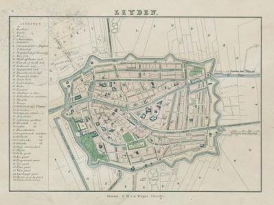 historische Karten Leiden