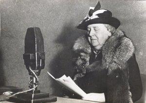 Die niederländische Köningin Wilhelmina spricht aus dem Exil über Radio Oranje zu ihren Landsleuten (28. Juli 1940)