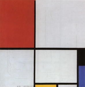 Piet Mondrian, Composition with red, yellow and blue. 1928. Öl auf Leinwand. 42,2 × 45 cm. Ludwigshafen am Rhein, Wilhelm-Hack-Museum.