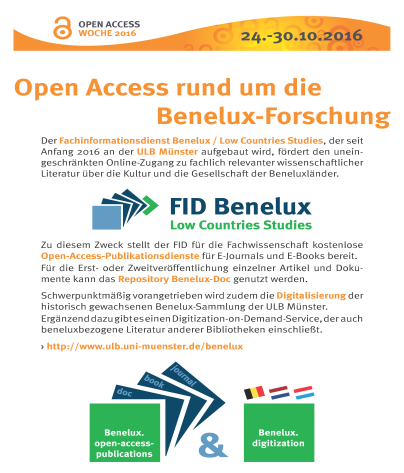 OA-Week: Poster des FID Benelux