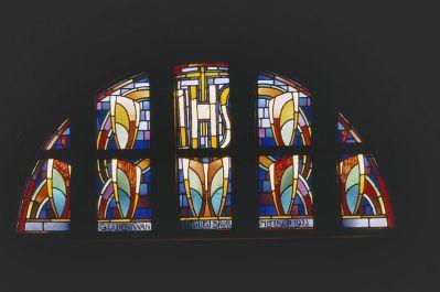 Joep Nicolas: Ornament met Christusmonogram PX (1923), Nieuwe Sint Johannes De Doperkerk, Eygelshoven (NL)