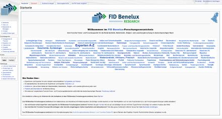 Startseite FID Benelux-Forschungsverzeichnis